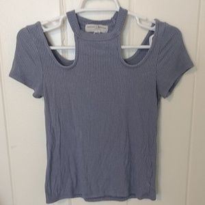 UO Dusty Lavender cut out tee